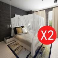 Prostokątna moskitiera nad łóżko z 3 wejściami (x2)