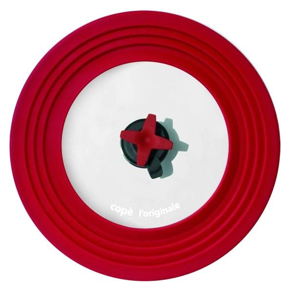 Przykrywka z regulacją Cope Pavoni 22-28 cm czerwona COPERSNRRSS