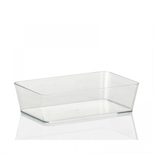 Pudełko na akcesoria łazienkowe Kela Kristall przezroczysty KE-21962