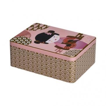 Puszka na herbate Eigenart Little Geisha różowa