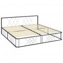 Rama łóżka, szara, metalowa, 180 x 200 cm
