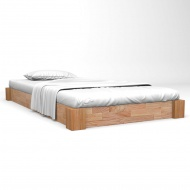 Rama łóżka z litego drewna dębowego, 120 x 200 cm
