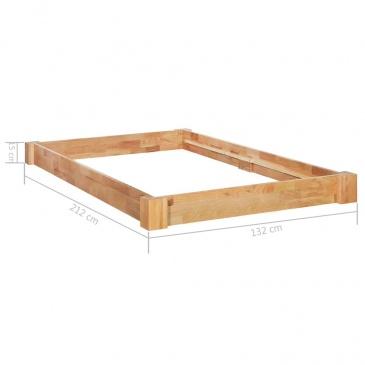 Rama łóżka Z Litego Drewna Dębowego 120 X 200 Cm