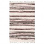 Ręcznie tkany dywan Chindi 80x160 cm, bawełna, burgundowo-biały