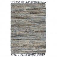 Ręcznie tkany dywan Chindi, juta i dżins, 200x290 cm, kolorowy