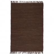 Ręcznie tkany dywanik Chindi, bawełna, 200x290 cm, brązowy