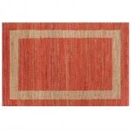 Ręcznie wykonany dywan, juta, czerwony, 80x160 cm