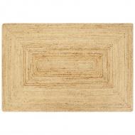 Ręcznie wykonany dywan, juta, naturalny, 80x160 cm