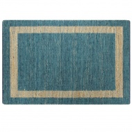 Ręcznie wykonany dywan, juta, niebieski, 160x230 cm