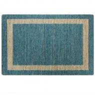 Ręcznie wykonany dywan, juta, niebieski, 80x160 cm