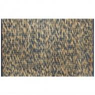 Ręcznie wykonany dywan, juta, niebieski i naturalny, 80x160 cm