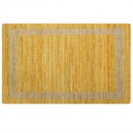 Ręcznie wykonany dywan, juta, żółty, 120x180 cm