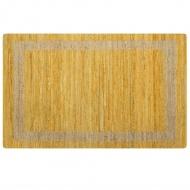 Ręcznie wykonany dywan, juta, żółty, 80x160 cm