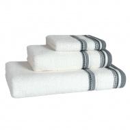 Ręcznik 50x100 cm Miloo Home Granada biało-szary