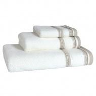 Ręcznik do rąk 30x50 cm Miloo Home Granda biało-beżowy