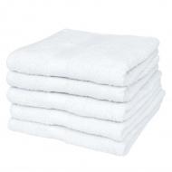 Ręczniki, 5 szt., bawełna, 500 g/m², 50x100 cm, białe