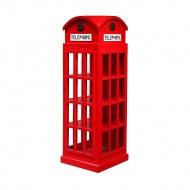 Regał budka telefoniczna 52x51x140 cm Miloo Home czerwony
