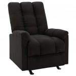 Rozkładany fotel, czarny, obity tkaniną