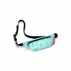Saszetka beltbag kids cats and dogs mint