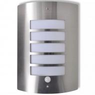Ścienna lampa ze stali nierdzewnej z czujnikiem ruchu