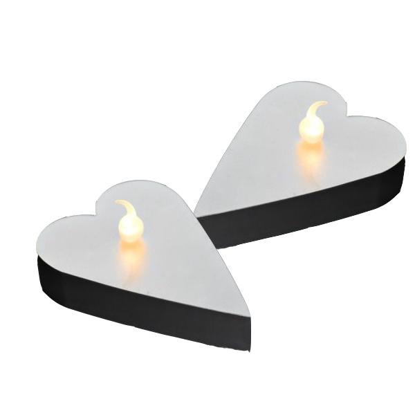 Serce LED na baterie 6szt Sirius Marianna srebrny SR-35982
