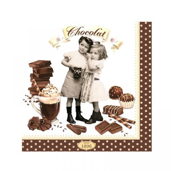 Serwetki deserowe 20 szt. Nuova R2S Chocolate Vintage 414 CHOV