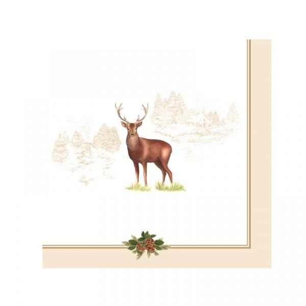 Serwetki deserowe 20 szt. Nuova R2S Deer 414 DEER