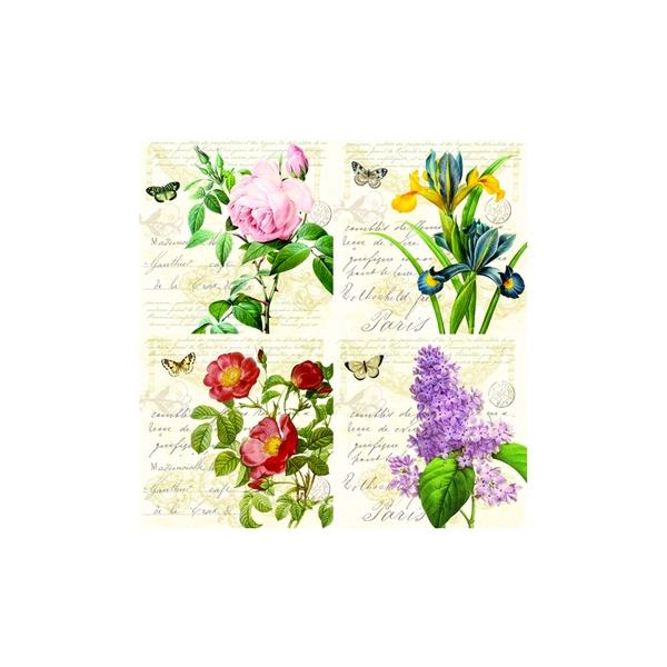 Serwetki deserowe 20 szt. Nuova R2S Napkins polne kwiaty 414 BACR