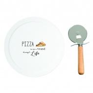 Serwis do pizzy z nożem Nuova R2S Kitchen Elements