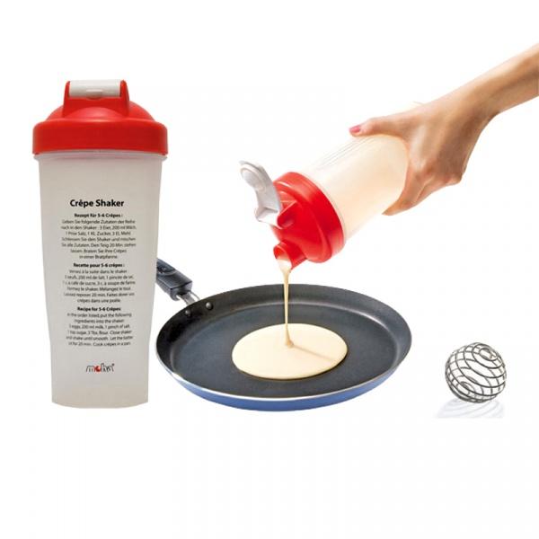 Shaker do naleśników 22cm MOHA Crepe Shaker biało-czerwony MO-69116