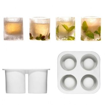 Silikonowa forma na 4 lodowe szklaneczki Sagaform Bar