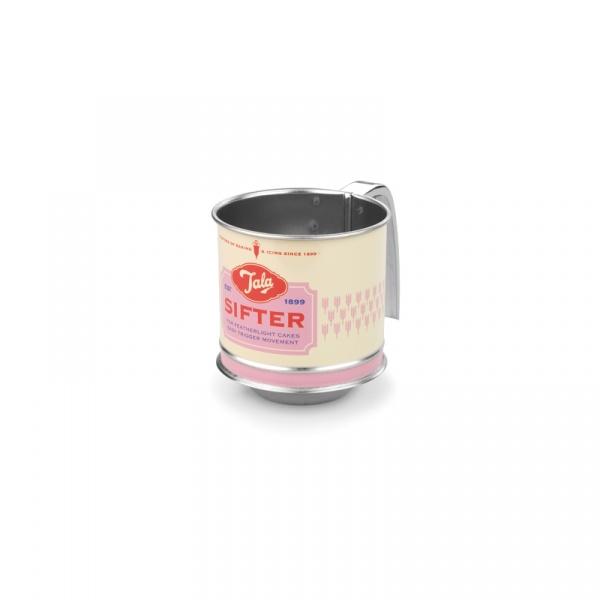 Sitko mechaniczne do mąki mini Tala Retro różowe  10B00237