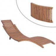 Składany leżak, lite drewno tekowe