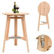 Składany stolik barowy, 78 cm, drewno jodłowe