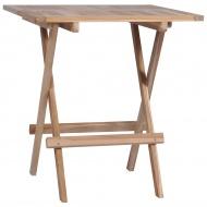 Składany stolik bistro, lite drewno tekowe, 60 x 60 x 65 cm