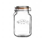 Słoik 1,5l Kilner Square Clip Top Jar przezroczysty