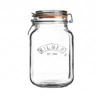 Słoik 2l Kilner Square Clip Top Jar przezroczysty