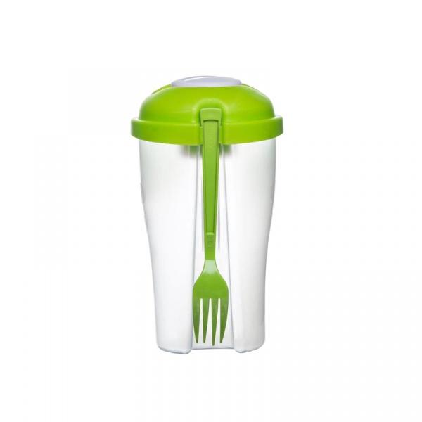 Słoik na sałatę z widelcem i pojemnikiem na sos Sagaform Fresh zielony SF-5017461