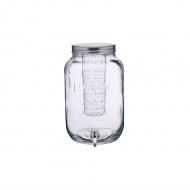 Słój szklany z kranikiem i wkładem na owoce 7,5L Kitchen Craft Home Made przezroczysty