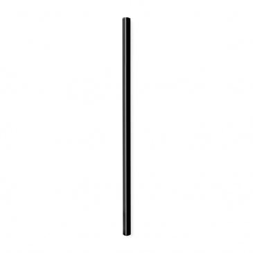 Słomki szklane czarne 20cm zestaw 6 sztuk ze szczoteczką 26599