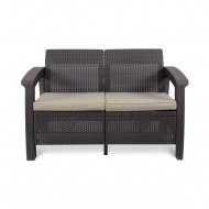 Sofa 128x70x79cm Bazkar Corfu Love Seat brąz/taupe