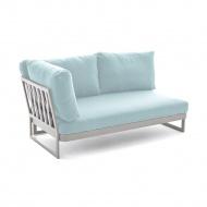 Sofa 2-os prawa 172x91x71 cm Miloo Home Sue biało-niebieska