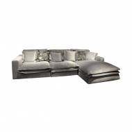 Sofa 4-osobowa Boa 320x160x75 cm Miloo Home Velvet Collection szara