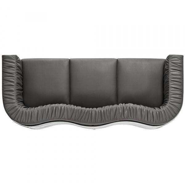 Sofa D2 Balza 3-osobowa czarna skóra DK-65516