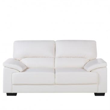 Bardzo dobra Sofa kremowa - dwuosobowa - kanapa - skóra ekologiczna - Mestoli OX49
