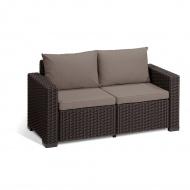 Sofa ogrodowa 2-os California : Kolor - brąz/taupe