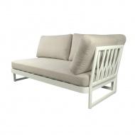 Sofa prawa 72x91x71 cm Miloo Home Sue biało-beżowa