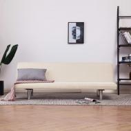 Sofa, rozkładana, kremowa, poliester