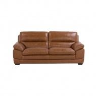 Sofa skórzana złoty brąz HORTEN