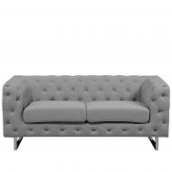 Sofa tapicerowana dwuosobowa jasnoszara Rosai